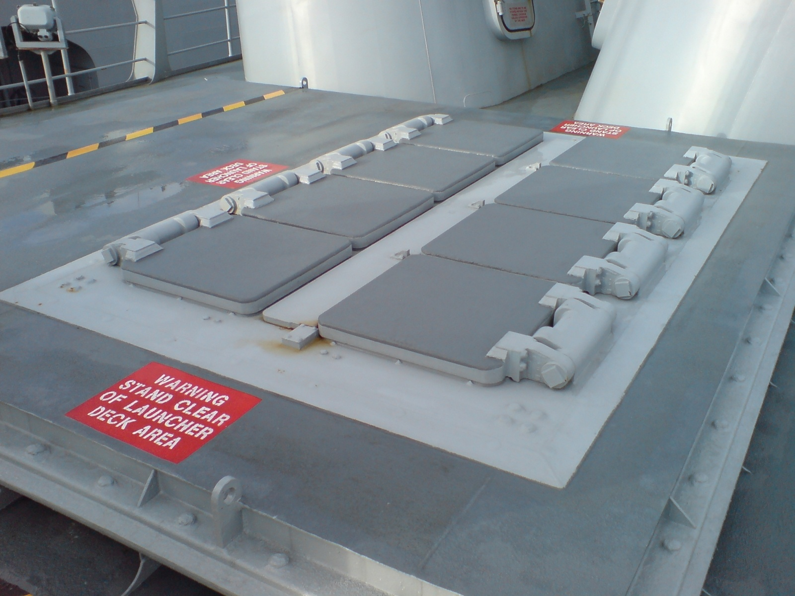 Each VLS module contains eight missileloaded canisters